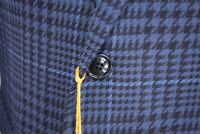 ETRO NWT Sport Coat Size 42R In Blues and Black Plaid