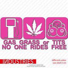 gas grass or tits - no free rides | Sticker Car Auto Aufkleber | Fun Ass Shocker