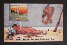 WW1 Postcard Soldier Billett International Stores Crowthorne Berkshire 1918