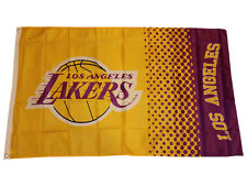 Los Angeles Lakers Fahne gelb NBA Flag Basketball LA Lakers Flagge 155x90 cm