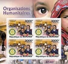 ROTARY INTERNATIONAL Humanitarian Organisation Stamp Sheet #5 (2011 Burundi)
