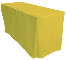 1.5x1.8m Ajustado Amarillo rectangular Caballete Expositor Mantel