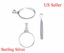 Sterling Silver Bezel Frame Morgan or Peace Dollar Coin