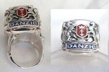Danzig Wappen Ring Silber 925