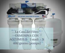 Depuratore acqua osmosi inversa 400 LT giorno - con membrana FILMTEC da 100 GPD