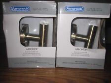 2 AMEROCK ARRONDI BH26542BBZ SINGLE ROBE HOOK BRONZE/GOLDEN CHAMPAGNE FINISH