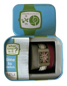 Paul Frank Unisex Union Jack Wristwatch With White And Pink Bands