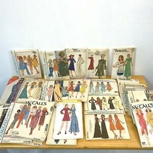 Vintage Sewing Pattern Lot 25 Dresses 1970s all Bust 36 Complete size 14 PT3
