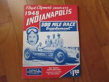 1948 Indy 500 Indianapolis race supplement F. Clymer's yearbook Mauri Rose Offy