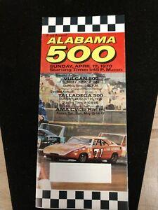 1970 First Annual Alabama 500, NASCAR, Official Program. Alabama Motor Speedway