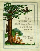 Finished Cross Stitch For Dad It is a wise father that knows his own child Fox