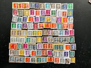 GB STAMPS Collection Of Latest High Value SECURITY MACHIN DEFINITIVES ON PAPER