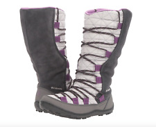 Columbia Youth Loveland Omni-Heat Boots Big Girls size 7 Warm Winter Cool Grey