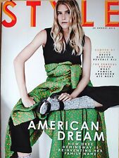 NEW* BRUCE OLDFIELD, PAMELA ANDERSON, SIGMAN - SUNDAY TIMES STYLE 30 AUGUST 2015