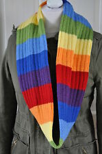 Adult Knitted rainbow scarf /snood ,Acrylic,NEW