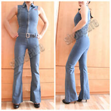 Jeansoverall Gr. 34 Only Jeanscatsuit Jumpsuit stretch ärmellos (#394)