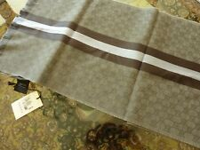 Gucci $295 Gray/Lead Blue Scarf in Wool/Silk Blend - NEW with Tags #147351