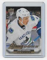 Jake Virtanen 2015-16 Upper Deck UD Canvas Young Guns C215 Vancouver Canucks