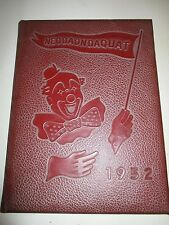Vintage 1952 NEODAONDAQUAT Irondequoit High Rochester NY Yearbook 100 pgs 314