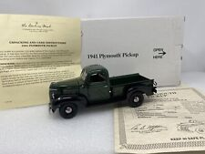 1/24 Danbury Mint 1941 Plymouth Pickup Green
