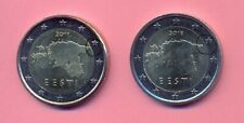 RARE mintage - Estonia 2018 1 euro with big stars and smaller map - UNCIRCULATED
