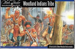 Warlord  American War, Independence, Woodland Indians 1776-1783, 28mm AWI05 ST