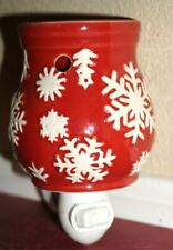 Red Snowflake Holiday wall plug in warmer wax warmer discountinued