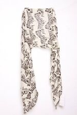 Unique Savanna inspired graphic zebra print & white ladies neck scarf (S23)