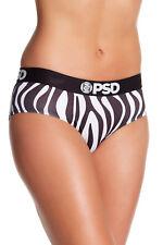 PSD Women's Zebra Classic Briefs sz S Small Black White All Over Print Underwear