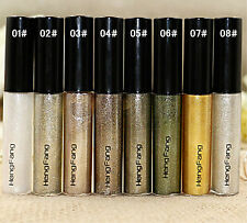 Hot Sparkling Glitter Liquid Eyeliner Party Makeup Colorful Eye Liner Waterproof 8 Colors/set
