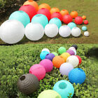 "6"" 8"" 10"" 12"" 14"" Multicolor Chinese paper Lanterns Wedding Party Decoration"