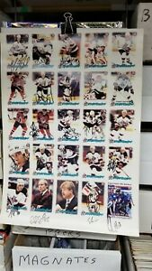 Albany River Rats 1998-99 Team Poster with 18 Signatures NJ Devils Affiliate