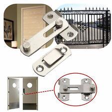 Stainless Steel Home Safety Gate Door Bolt Latch Slide Lock Hardware+Screw XB