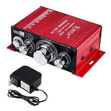 Kinter MA-170 12V 2CH Mini HIFI Amplifier Amp for Motorcycle MP3 w/ Power Supply