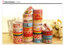 1 pcs Lovely Kawaii Cartoon Deco Adhesive Tape Washi Scrapbooking PVC Sticker CU