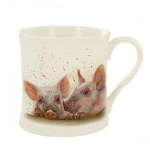 Bree Merryn Fine China Purdy & Peyton Pigs Farm Tea/Coffee Boxed Mug 8.5x8cm