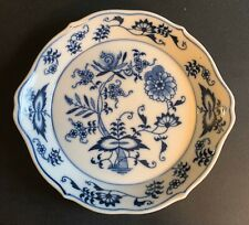 WHITE BLUE WILLOW CRANBERRY RELISH PICKLE CANDY NUT DISH ORIENTAL CHINESE PAGODA