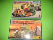 RENAULT TSF & RENAULT FT 17 TANKS BY RPM 1/72 - KOMBO