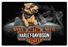 Harley-Davidson® Dogs Get It Side Car Embossed Tin Wall Sign (17x11.5) 2011311