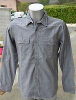 KAPORAL-Magnifique chemise grise manches longues -TAILLE L- EXCELLENT ETAT