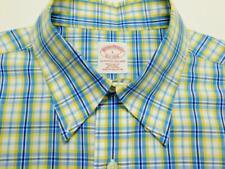 BROOKS BROTHERS REGULAR FIT Btn-Down Plaid Check Woven Long Sleeve Shirt L