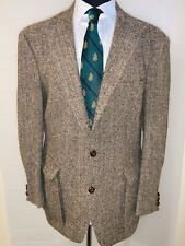 Superb Vtg Orvis Harris Tweed Sport Coat Sz 44 Elbow Patches