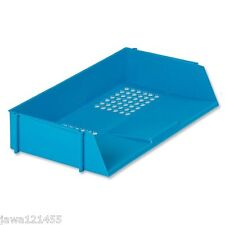 """Wide Entry Letter Tray Blue """"Deflecto"""" Office Table Letter Tray CP028YTBLU"""