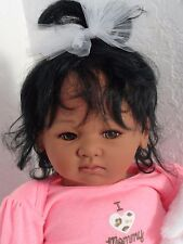 "Reborn African American 19"" Infant Baby Doll ""Honey""-"