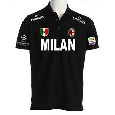 POLO MILAN CHAMPIONS LEAGUE t-shirt maglietta ibraimovic pato cassano calcio NE