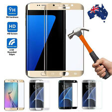 Curved Full Cover Tempered Glass Screen Protector Samsung S7 S6 Note Edge & Plus