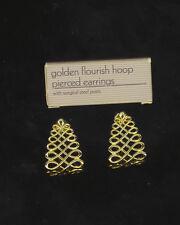 Vintage Avon Golden Flourish Pierced Earrings