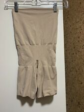 NWOT Maidenform Shapewear Size Large 7 High Waist Thigh Slimmer Beige