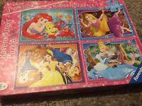 Ravensburger Disney Princess 4x42 piece Bumper Puzzle Pack Jigsaw