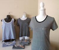 New w Tags LEVI'S Womens NAVY Blue STRIPE TEES & TANK TOPS T-Shirts XS S M L XL